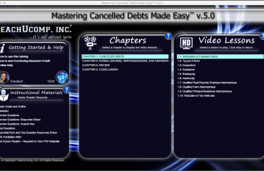 Buy Canceled Debts Training at TeachUcomp, Inc.: A picture of the training interface for