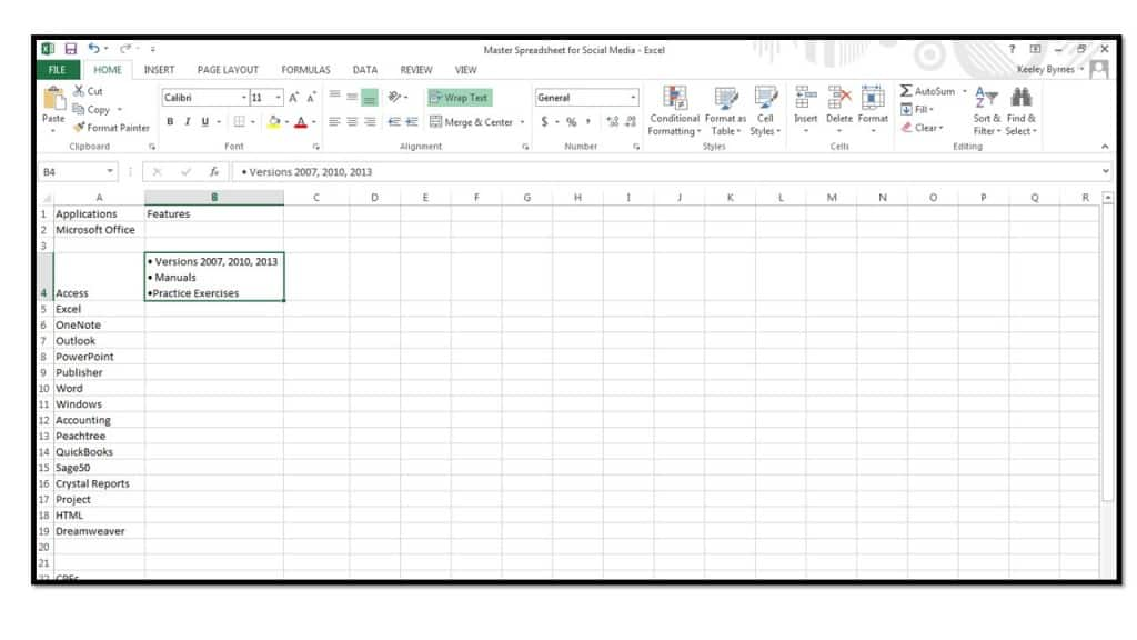 Bullets In A Cell In Excel 2013 Microsoft Community