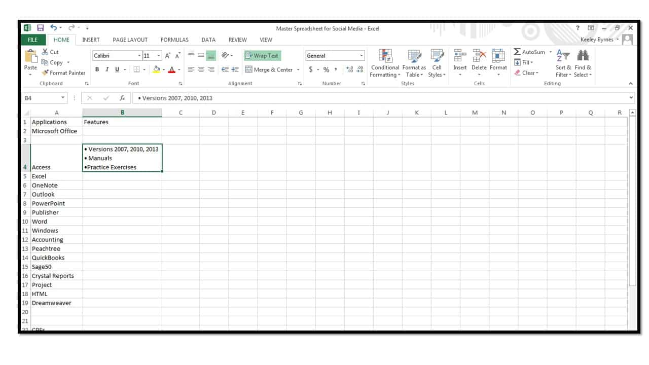 How to insert bullets in excel microsoft office training how to insert bullets in excel 2013 microsoft office training buycottarizona