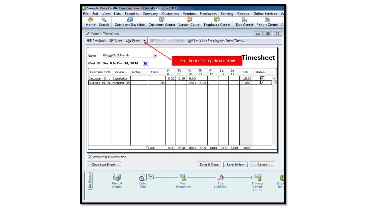 printing blank timesheets in quickbooks 2013 teachucomp inc