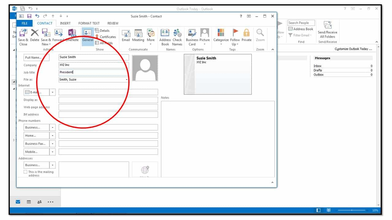 how to create new contacts in outlook 2013 teachucomp inc