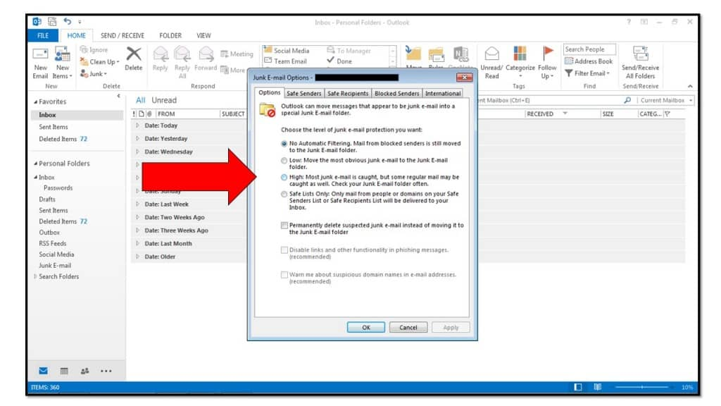 How to Control Junk/Spam Email in Microsoft Outlook 2013--TeachUComp