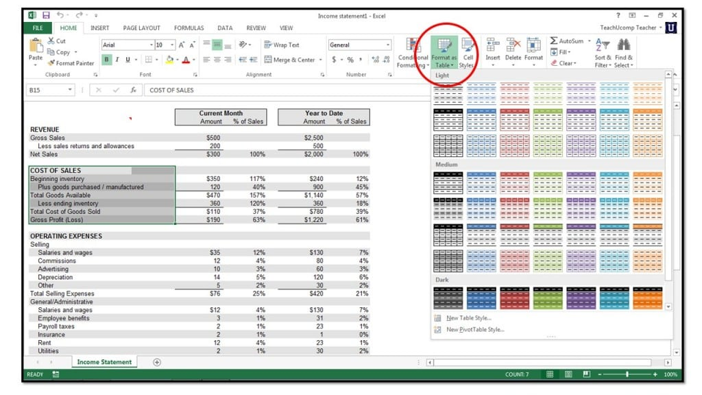 How To Format Cells In Microsoft Excel 2013 Teachucomp Inc