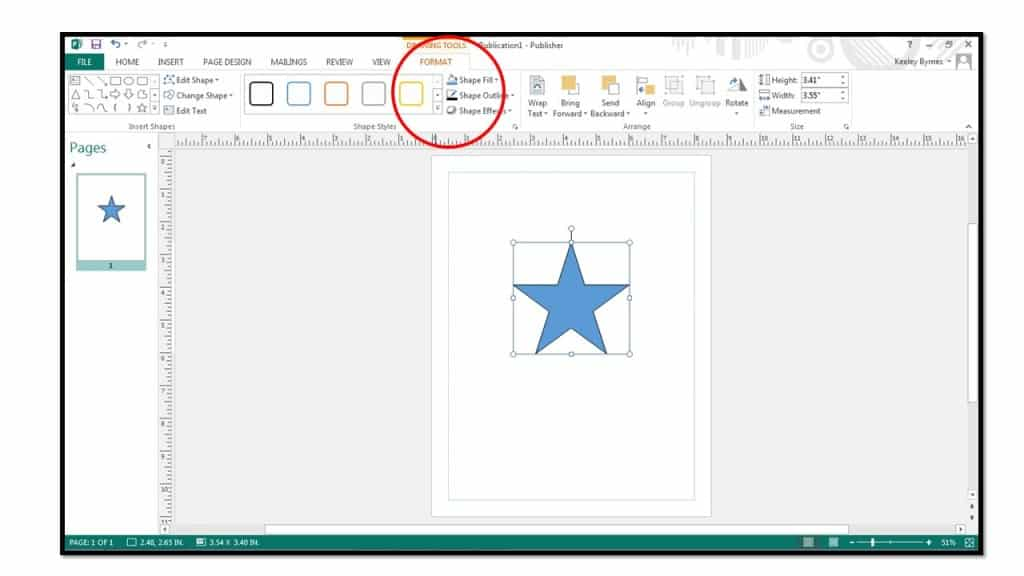 How To Add Shapes In Microsoft Publisher 2013 Teachucomp