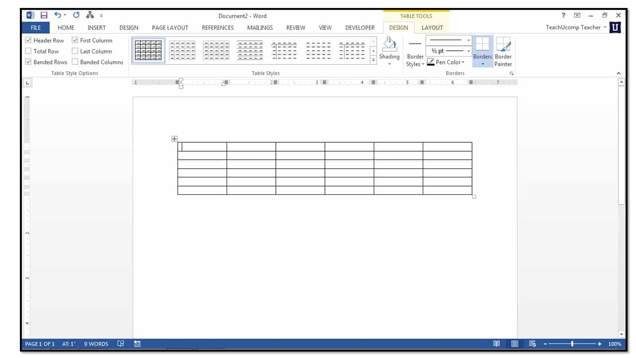 How to insert tables in microsoft word 2013 teachucomp inc tables can have many purposes in word you can use tables to manipulate data like a spreadsheet program you can use them to simply store data ccuart Choice Image