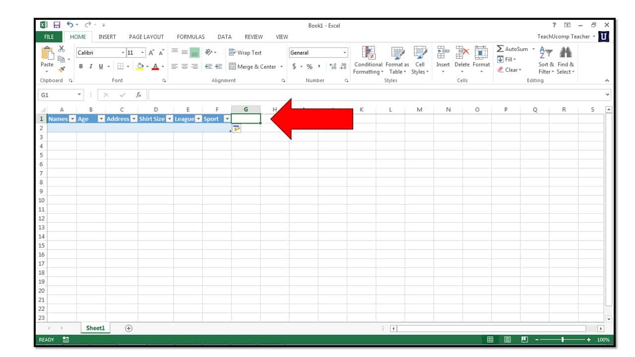 How to create tables in microsoft excel 2013 teachucomp for Excel table design