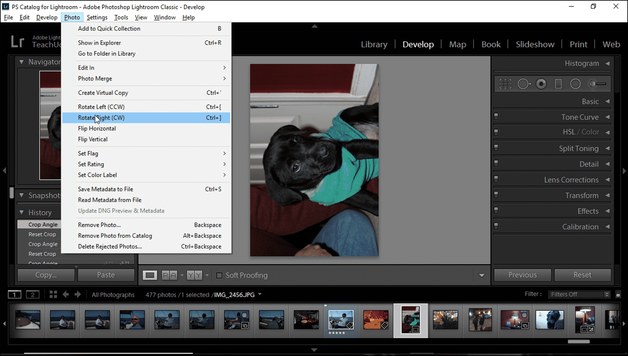 Rotate A Photo In Lightroom Classic Cc Instructions