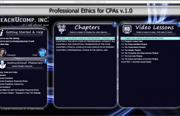 Buy Professional Ethics for CPAs Training: A picture of the