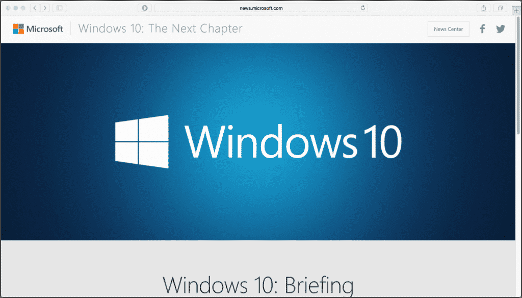 "Windows 10 Event Set for January 21st 2015: A picture of the web page for the ""Windows 10: The Next Chapter"" live stream for the Windows 10 event on January 21st, 2015. (Source: Microsoft)"