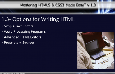 Programs Used to Write HTML - Tutorial: A picture of some of the various types of programs used to create HTML code.