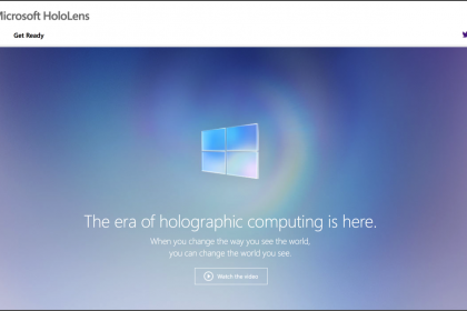 Summary of the Windows 10 Event on January 21st 2015: A picture of the web page for the new Microsoft HoloLens. (Source: Microsoft)