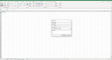 "Record a Macro in Excel - Instructions and Video Lesson: A picture of the ""Record Macro"" dialog box in Excel."