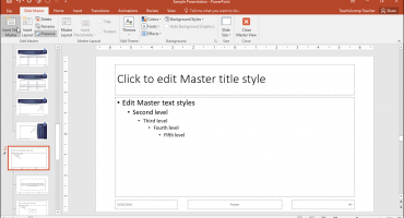 Slide Masters in PowerPoint - Instructions: A picture of a user adding a new slide master in PowerPoint.