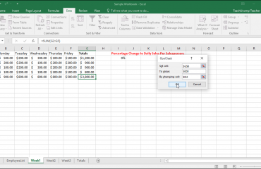 Goal Seek in Excel- Tutorial: A picture that shows how to use Goal Seek in Excel.
