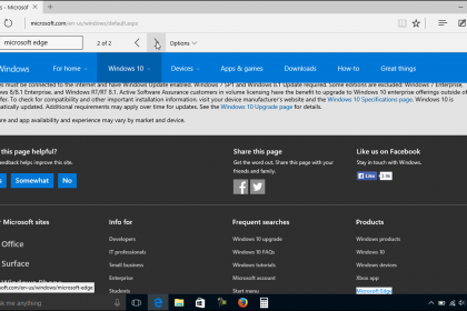 Find Text in Microsoft Edge - Tutorial: A picture of a user finding text within a web page in Microsoft Edge.