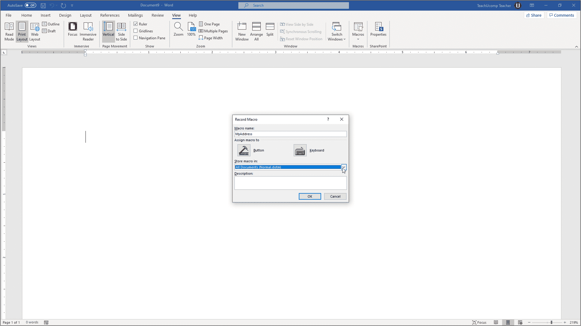 Record a Macro in Word - Instructions and Video Lesson Pertaining To Word Macro Enabled Template