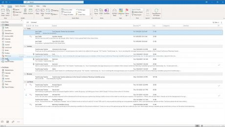 """A picture showing how to turn emails into tasks by clicking and dragging an email onto the """"Tasks"""" folder in Outlook."""
