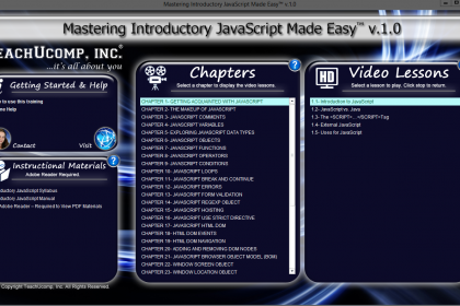 A picture of the JavaScript tutorial interface for