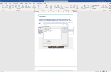 """Add Bookmarks in Word - Instructions: A picture of a user inserting a bookmark into a Word document by using the """"Bookmark"""" dialog box."""