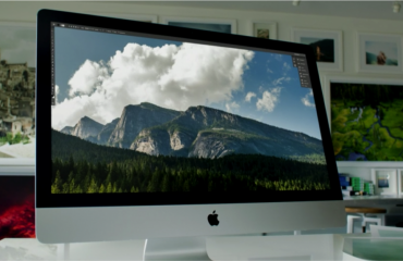A picture of the new iMac with 5K Retina display shown during the Apple Event on October 16th, 2014. Source: Apple.