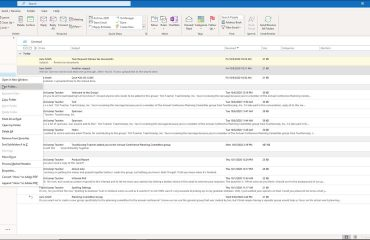 Using Subfolders in Outlook for Lawyers- Instructions: A picture showing how to create subfolders in Outlook.