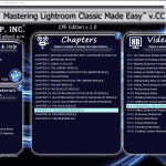 "Buy Lightroom Classic CC Training at TeachUcomp, Inc.: A picture of the interface for the digital download or DVD versions of ""Mastering Lightroom Classic Made Easy v.CC,"" the Lightroom Classic CC tutorial from TeachUcomp, Inc."