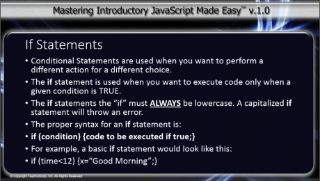 If Statement in JavaScript- A Tutorial: A picture of the