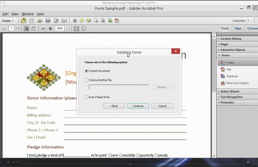 Create a Form from an Existing Document in Acrobat XI: A picture of the video titled