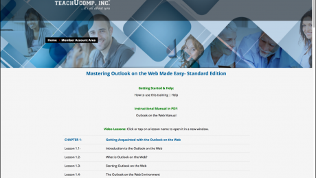 "Buy Outlook on the Web Training: A picture of the ""Mastering Outlook on the Web Made Easy"" online course."