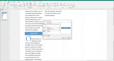 """Create Building Blocks in Publisher - Instructions: A picture of the """"Create New Building Block"""" dialog box in Microsoft Publisher."""