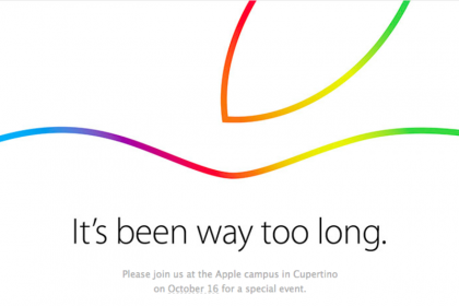 Apple Event Set for October 16th, 2014: A picture of the invitation for the Apple event. Copyright Apple, Inc.