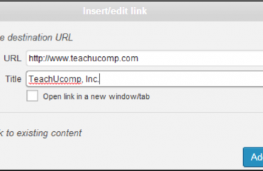 Create a Link in WordPress- Tutorial and Instructions: A picture of the