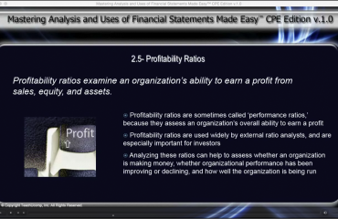 Profitability Ratios Used to Analyze Financial Statements: A picture of the video lesson