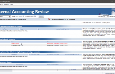 The Internal Accounting Review in Sage 50 - Instructions: A picture of a user correcting a minor accounting issue from within Sage 50's Internal Accounting Review.