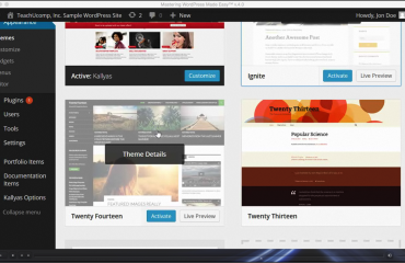 Change WordPress Themes- Tutorial and Instructions: A picture of the video lesson