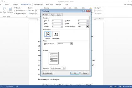 Page Setup in Word- Tutorial - TeachUcomp, Inc