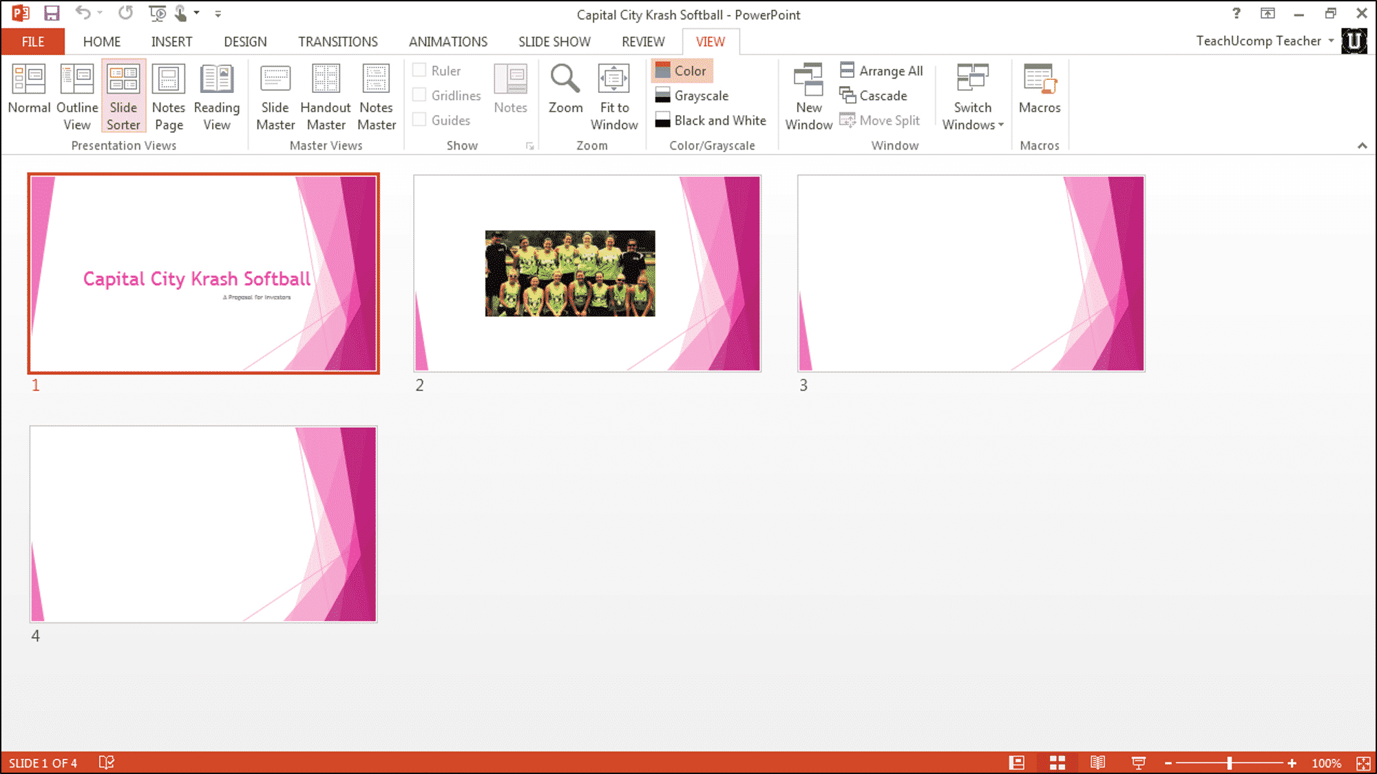 Slide Sorter View In Powerpoint Tutorial Teachucomp Inc
