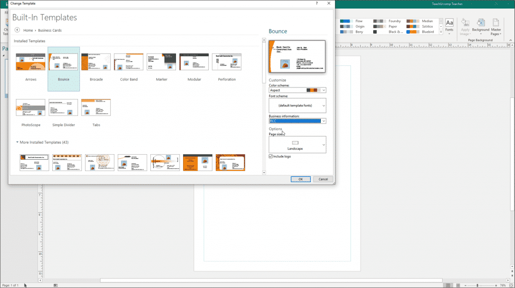 Change Templates In Publisher Instructions And Video Lesson