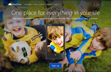 Changes to OneDrive Storage Plans- News: A picture of the OneDrive home page (Source: Microsoft).