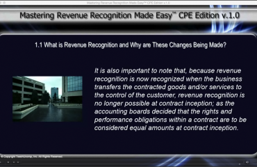 """Why Changes Are Being Made to Revenue Recognition: A picture from a lesson within the course titled """"Mastering Revenue Recognition Made Easy v.1.0"""