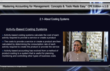 Costing Systems Commonly Used in Management Accounting: A picture of the video lesson
