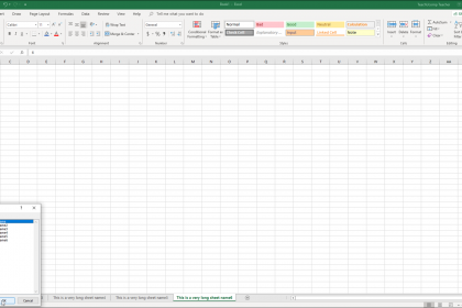 """Navigating Worksheets in Excel - Instructions: A picture of a user navigating worksheets in Excel by using the """"Activate"""" dialog box."""