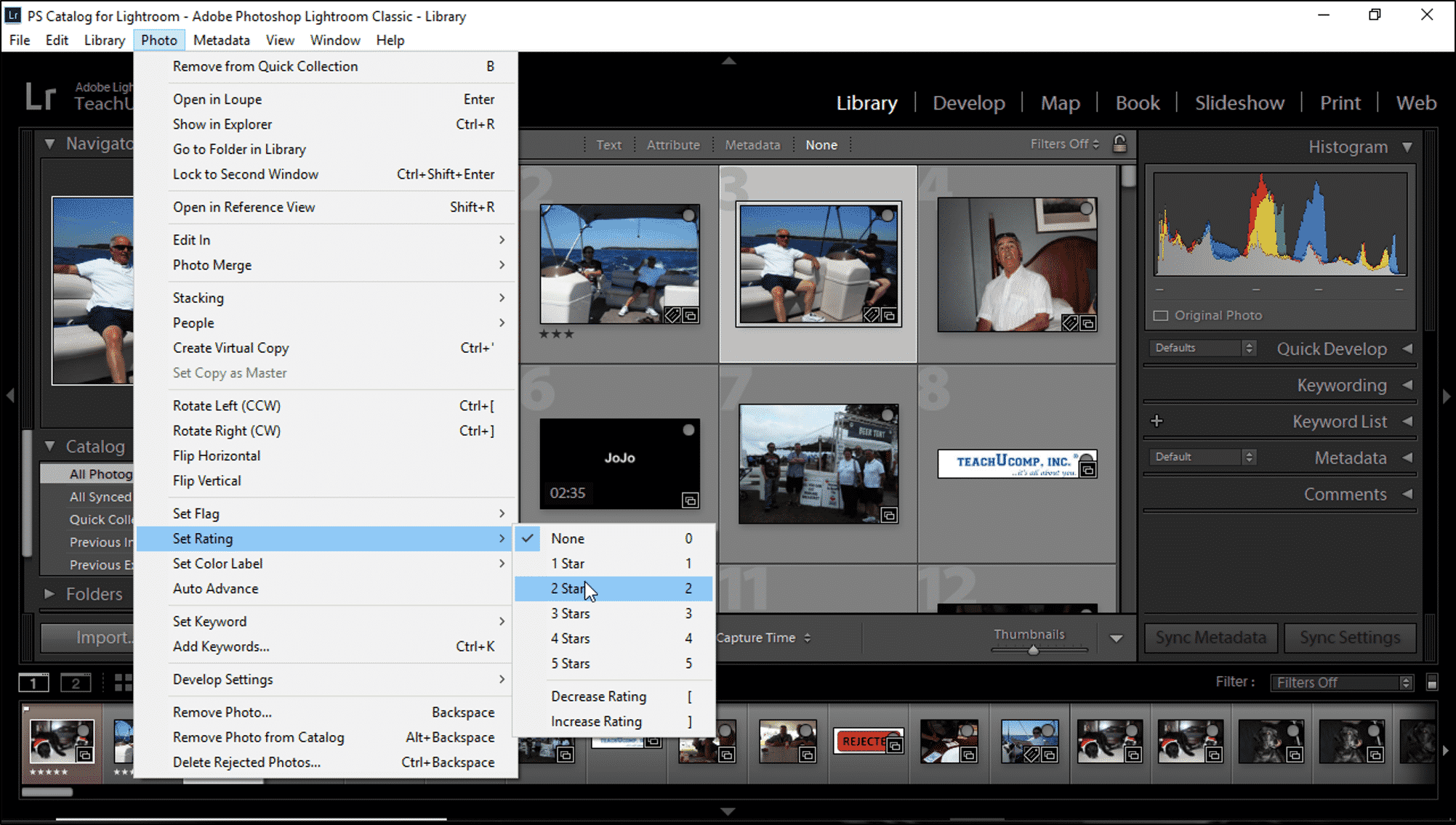 Ratings in Lightroom Classic CC- Instructions and Video Lesson