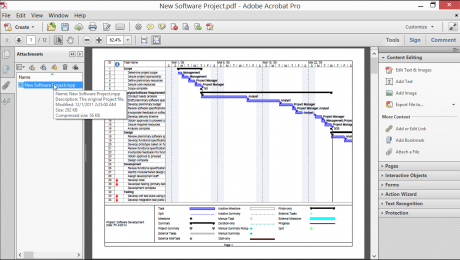 Attach Files to a PDF in Acrobat XI- Tutorial: A picture of a file with a description that has been attached to a PDF in Acrobat XI.