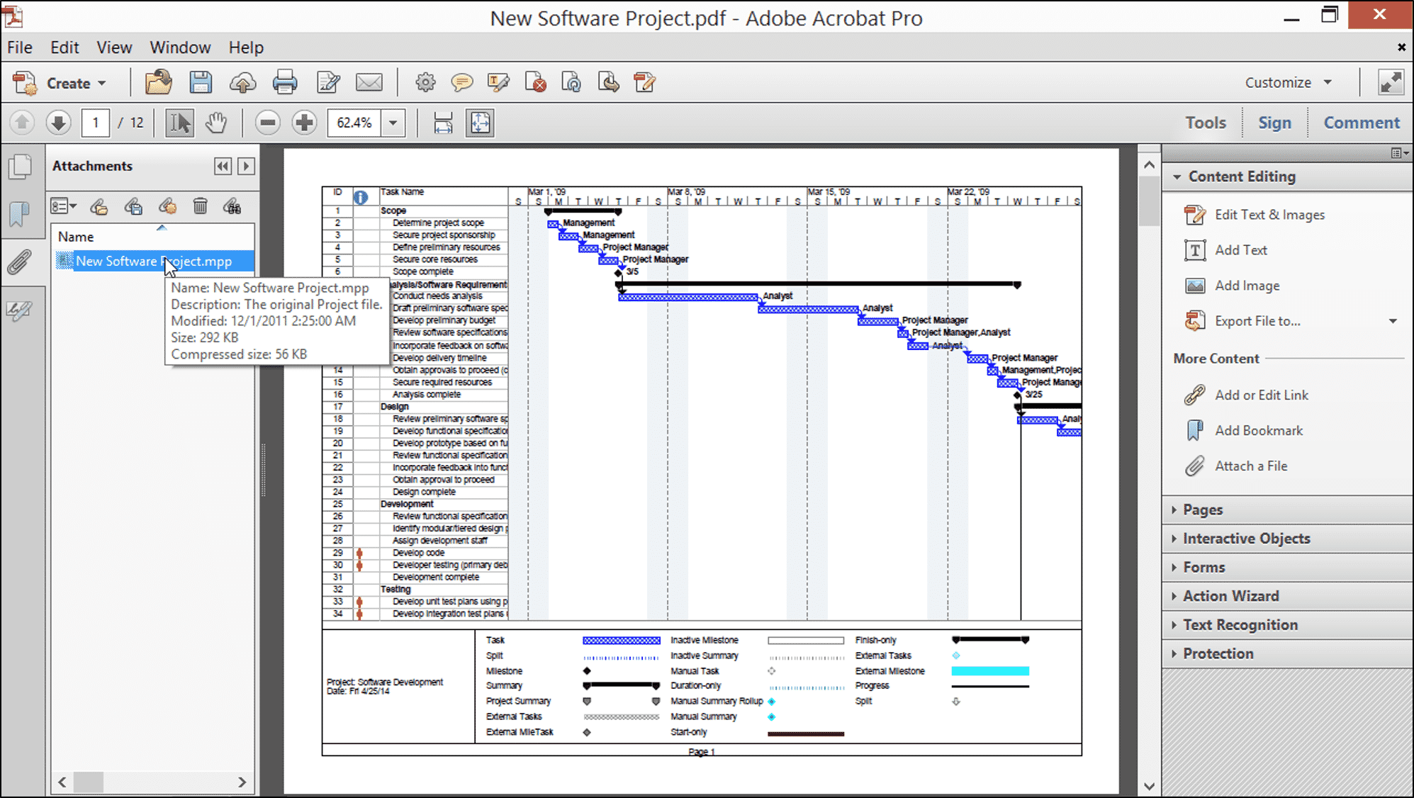 Attach Files to a PDF in Acrobat XI- Tutorial