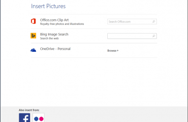 How to Insert Online Pictures in Word 2013: A picture of the
