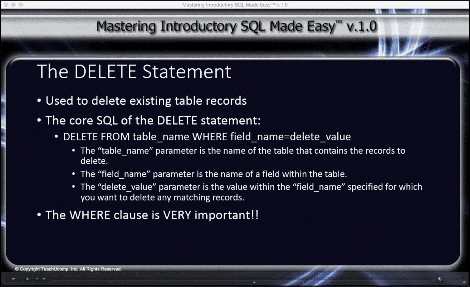 When execute the DELETE command,the DBMS logs all removed rows. This means  it is easier to recover from a mistake, than it would a mistaken TRUNCATE.