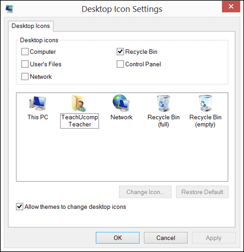 how to change font of icons on desktop windows 8