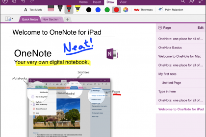 Handwriting in OneNote for iPad Arrives: A picture of handwriting in OneNote for iPad.
