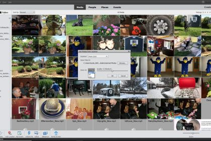 "Import Photos from a Scanner in Photoshop Elements- Instructions: A picture of the ""Get Photos from Scanner"" dialog box in Photoshop Elements."